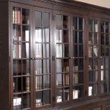 Meubles de Module de bibliothèque de porte du bureau 6 de couleur foncée (GSP18-003)