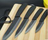 Cuchillos de cocina de cerámica de la cuchillería del color multi con la fruta Peeler