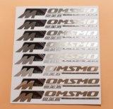 Etiquetas baratas do metal da forma redonda do preço com logotipo do tipo
