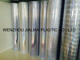 Película olográfica/del laser transparente rígida del PVC para las decoraciones de la Navidad
