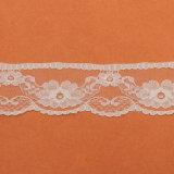 백색 신부 수를 놓은 Tulle 레이스 직물 Guipure 레이스 직물