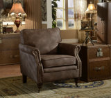 Poltrona ajustada do couro genuíno da mobília da sala de visitas