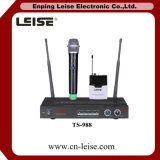 Ts 988 좋은 품질 2 채널 통신로 UHF 무선 마이크