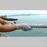 Серые хлопок Knit шнура и перчатка полиэфира (2312)
