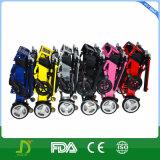 FDA fauteuil roulant électrique puissant pliable sans frottoir de poids léger de 8 pouces