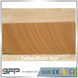 طبيعيّة حجارة صفراء خشبيّ عرق حجر رمليّ في يصقل سطح لأنّ درجة و [ستبس]