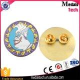 Pin rotondo poco costoso del risvolto dell'oro di promozione/distintivo in lega di zinco delle stelle marine