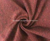 Sola tela de estiramiento de Jersey del poliester de nylon negro (HD2403118)