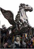 Il cavallo di volo, la grande fabbricazione esterna della scultura e la decorazione del metallo della decorazione interna, arte dell'artigianato, possono essere personalizzati per fare la scultura