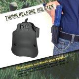 Paleta de la rotación del polímero de la pistolera del desbloquear del pulgar de Cytac Glock con el ajuste de la tensión