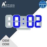цифровые часы 3D СИД с яркостью 3 и режимом ночи