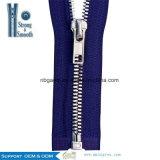 No. 3 chiusura lampo a lunga catena del metallo del rullo della chiusura lampo dei denti del metallo con tiro su ordinazione della chiusura lampo del metallo