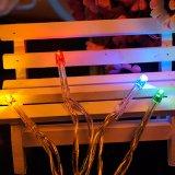 luz de prata decorativa a pilhas da corda do fio 2m20LED/3m30LED/4m40LED/10m100LED
