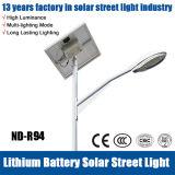 Luz de calle solar de los altos lúmenes con la ISO del Ce de RoHS certificada
