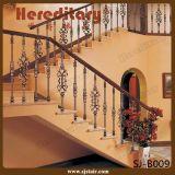 Pasamano de bronce de interior de la escalera de la fundición de aluminio del diseño de lujo (SJ-B005)