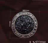 Anillo de dedo cristalino redondo de lujo de la joyería de la CZ de la manera