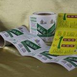 Escritura de la etiqueta impermeable modificada para requisitos particulares de la etiqueta engomada del vinilo de la impresión para la tabla hawaiana