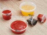 Wegwerfplastiksoße-Cup der Einspritzung-1oz mit eingehängter Kappe