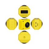 WiFi 4k câmera de um panorama de 360 graus com lente dupla