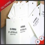 etiqueta de encargo de la caída de la tarjeta blanca 350GSM