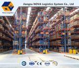 Blauer Rahmen-und orange Träger-Lager-justierbare Ladeplatten-Zahnstange