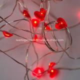 Красное датировка сердца Wedding батарея света шнура светляка работало