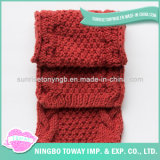 Vente en gros Keep Warm Cotton Square Feather Knitted Scarf