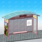 Schuilplaats van de Bushalte van de Apparatuur van de Reclame van het Metaal van de straat de OpenluchtMet Lichte Doos