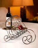 창조적인 작풍 호텔 바 홈 선반, 밝은 은 홀더 포도주 선반을%s 장식적인 포도주 선반