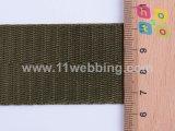 Webbing Herringbone verde militar do poliéster da manufatura da fábrica