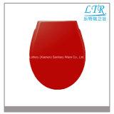 Premier seul siège des toilettes de vente de couleur rouge