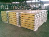 El panel de pared de acero de emparedado del color hecho de la hoja de PPGI para el edificio de la estructura de acero