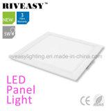 Luz de painel branca Electroplated do diodo emissor de luz do alumínio 5W