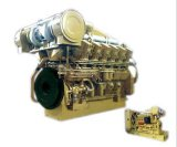 Mariene Motor 4000 van de lang-slag (1000, 1200Kw) de Water Gekoelde Lichtgewicht Lage Consumptie van de Brandstof