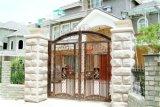 Deur Van uitstekende kwaliteit 16 van de Omheining van het Smeedijzer van de Veiligheid van Haohan Buiten Decoratieve