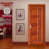 Porte vitrée en bois en teck à ouverture ouverte sculptée à la main (GSP2-080)