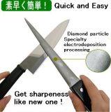 칼을%s 나이프 깍개의 둘레에 절반 다이아몬드
