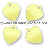 Pequeñas etiquetas grabadas aduana de la joyería de la insignia
