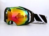 Lunettes antibrouillard de Snowboard de neige de lunettes de sports d'hiver de femmes d'hommes en verre de ski de masque de ski UV400 de lunettes de ski de marque doubles grandes