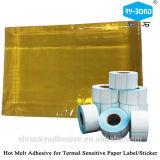 Pegamento adhesivo de la etiqueta autoadhesiva caliente amarilla del derretimiento hecho en China