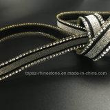 Testo fisso di cristallo del Rhinestone della striscia del nastro di nuova di 15mm di scintillio del nastro difficoltà calda del Rhinestone (TP-038)