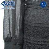 Vestido longo Chiffon do preto da luva do laço