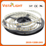 Lumières de bande flexibles de SMD 2835 DEL 24V pour des avants de bureau