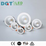 Do diodo emissor de luz luz para baixo Recessed em volta da ESPIGA elevada Downlight do CRI 12W