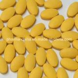 GMP에 의하여 증명서를 주는 약제 약, 노란 Vitamin B Complex 정제