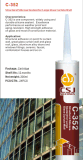 Один компонентный кисловочный Sealant силикона для дверей алюминиевого сплава