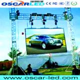 Visualización de LED video de fundición a presión a troquel de la cabina del alquiler a todo color al aire libre de P10 SMD