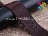 Webbing do jacquard do nylon de 38mm com costume do logotipo para a cinta do saco