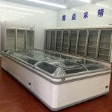 슈퍼마켓에 의하여 결합되는 직접 냉각 깊은 섬 냉장고