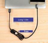 Le câble de caractéristiques le plus chaud de jeans avec le micro et l'éclairage pour le portable